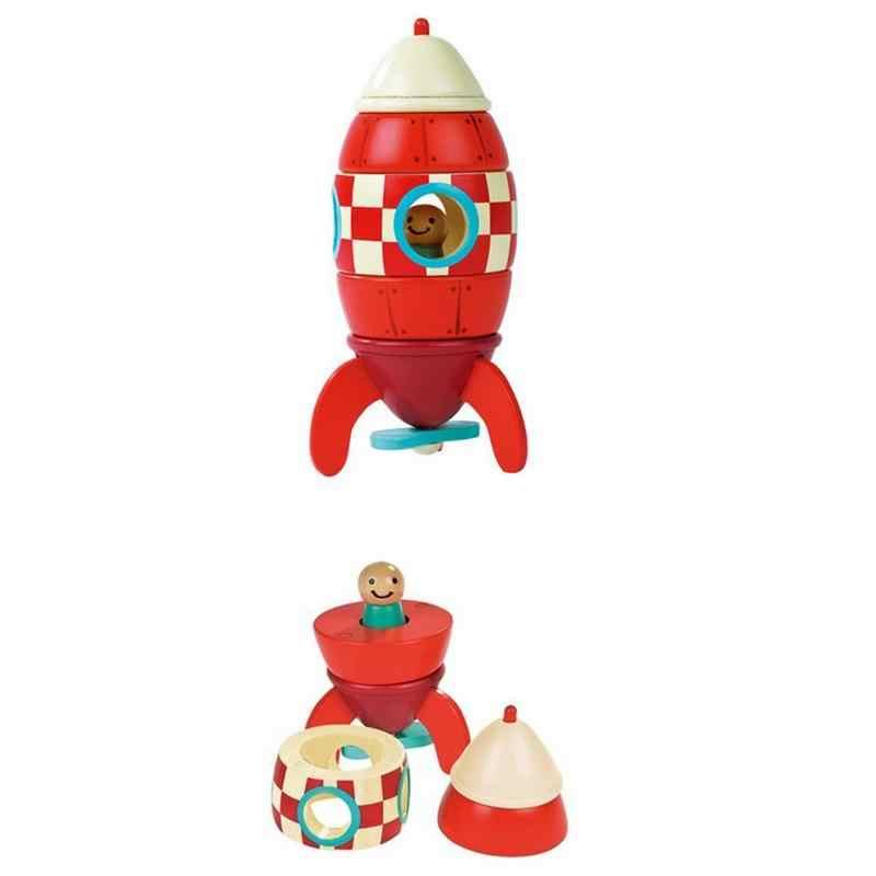 Детская разборка самолета игрушка Деревянный конструктор игрушечные лошадки пазл ранний образование модель для младенцев мальчиков Гир