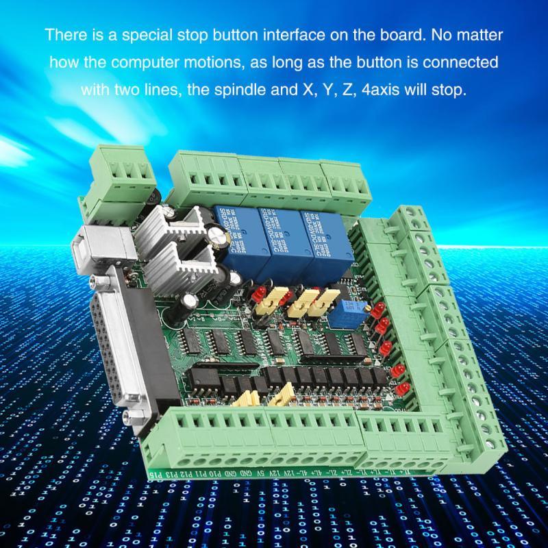 Tablero de interrupción MACH3 máquina de grabado CNC 0-10VPWM, adaptador de placa controladora, 4 ejes, 5 ejes, 6 ejes, tarjeta controladora de movimiento con Cable USB