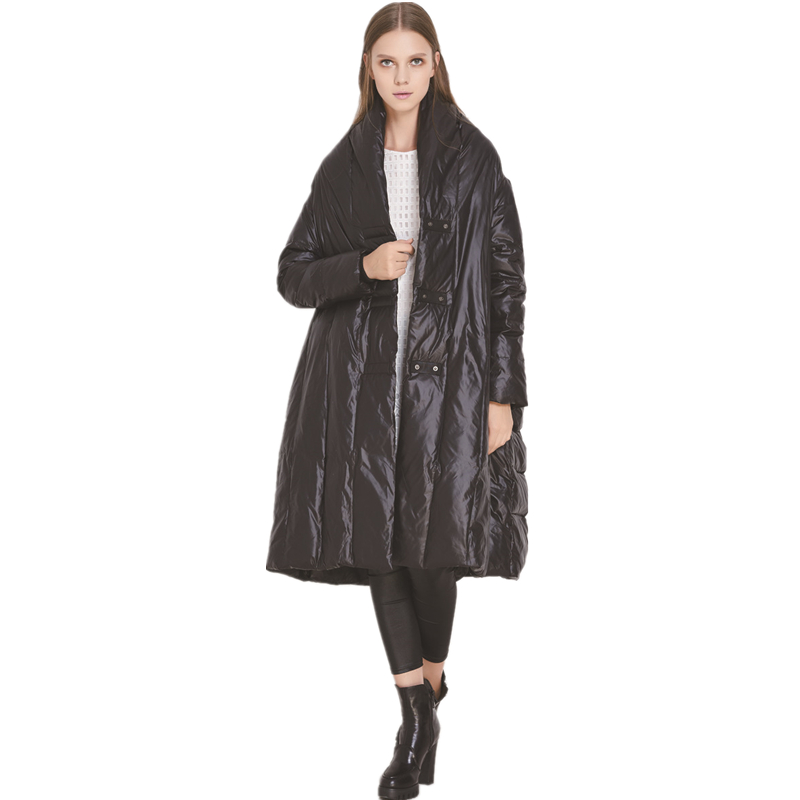 YMOJNV New Fashion 90% White Duck   Down     Coat   Women Winter Jacket   Coat   Personality Design Loose Large Size Snow Wear Female Parka