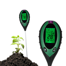 цена на 4 in 1 Multifunctional Professional Soil Moisture PH Temperature Environment Sunlight Intensity Meter Garden Test Tool