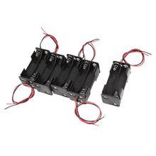 5 шт. пластиковый держатель батареи коробка держатель батареи 4 x AAA батареи черный+ красный