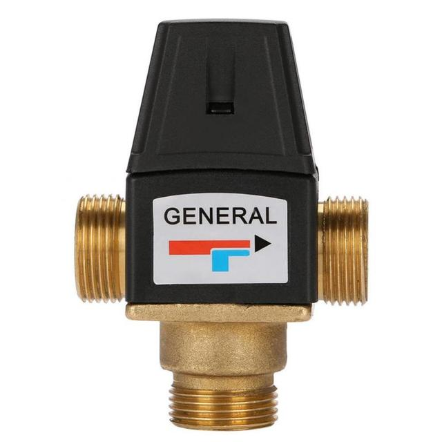 Hot 1Pc 3 Way DN20 Male Thread Brass Thermostatic Mixing Valve for Solar Water Heater