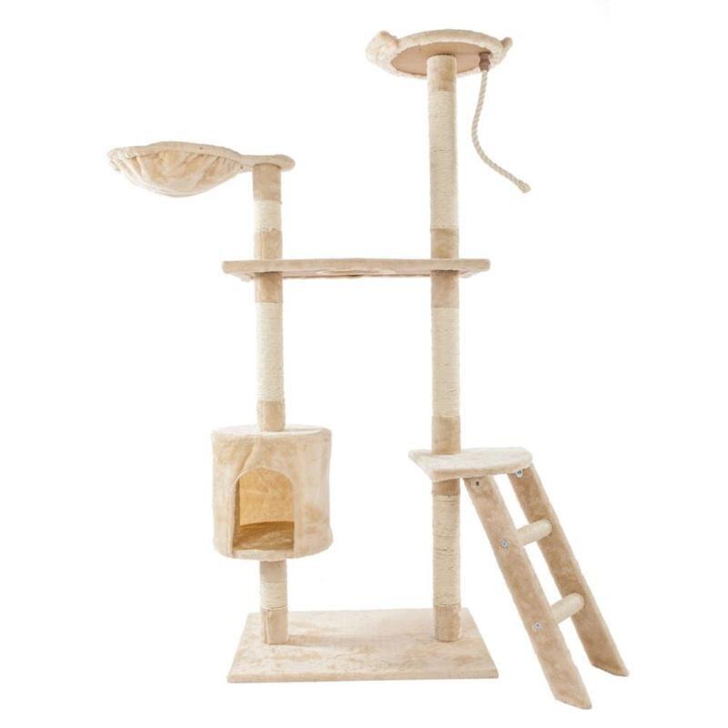 60/80 pouces Sisal naturel corde chat escalade arbre jouet chats chaton sautant debout cadre Post meubles chat jouets fournitures pour animaux de compagnie