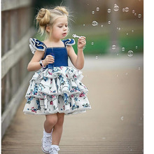 цены на 2019 Baby Girls Dress Summer Toddler Tutu Dress Princess Girl Party Dress Wedding Vestido Infantil Kids Dresses For Girls  в интернет-магазинах