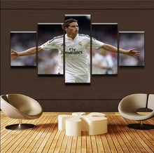 Modern Canvas Painting Modular Sports Pictures Home Decorative Frame 5 Panel Wall Art James Rodriguez Poster HD Printed Photo