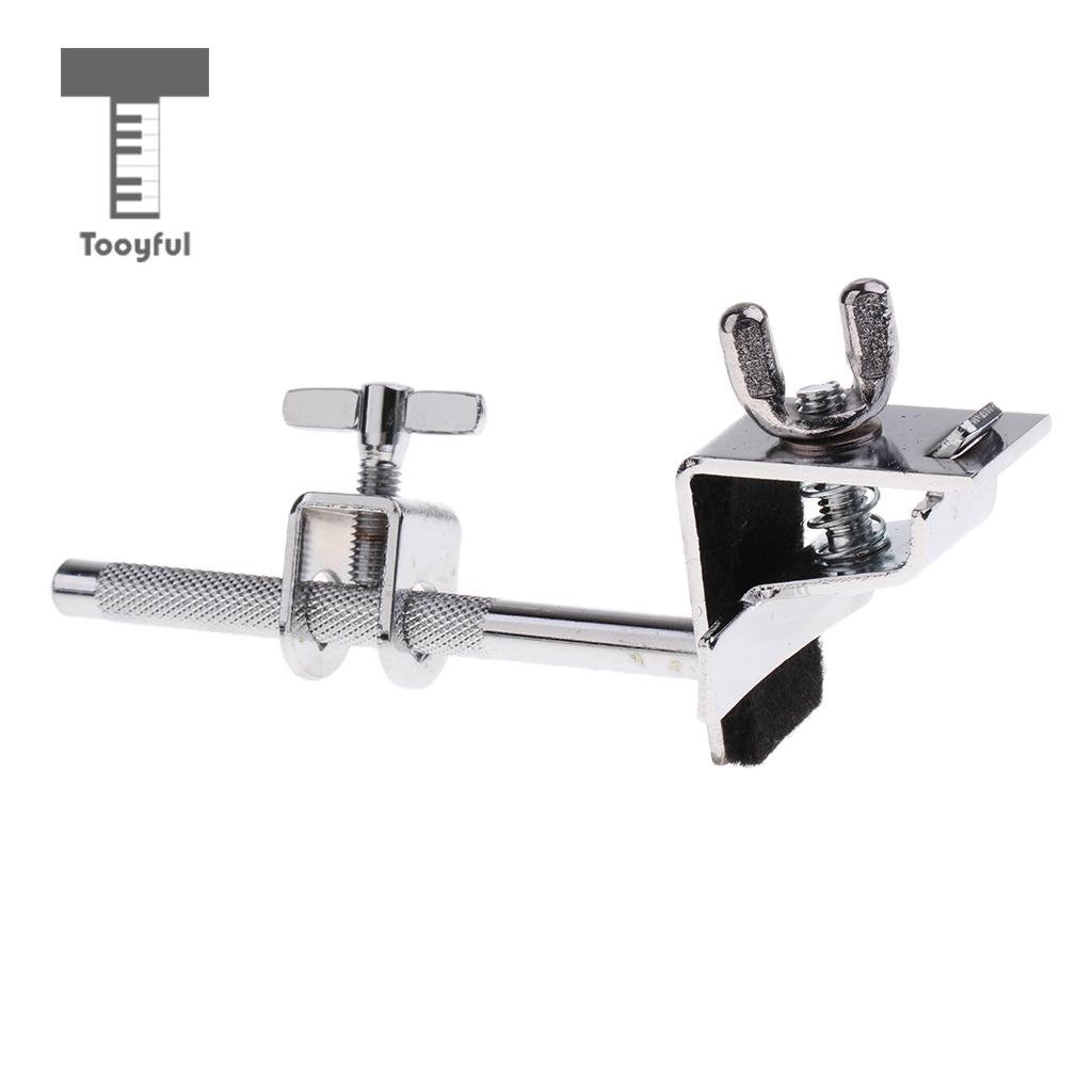 Tooyful Adjustable Metal Bass Drum Hoop Mount Cowbell Holder Clamp Drum Hardware DIY For Drum Player