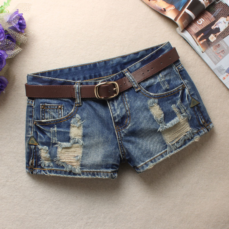Denim Shorts Women 2019 Fashion Ladies Ripped Hole Low Waist Summer Short Jeans Sexy Mini Shorts For Woman Plus Size 3XL