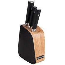 Набор ножей Rondell RD-485 Small Balestra 4 предмета (3 ножа из высококачественной нержавеющей стали, деревянная подставка)