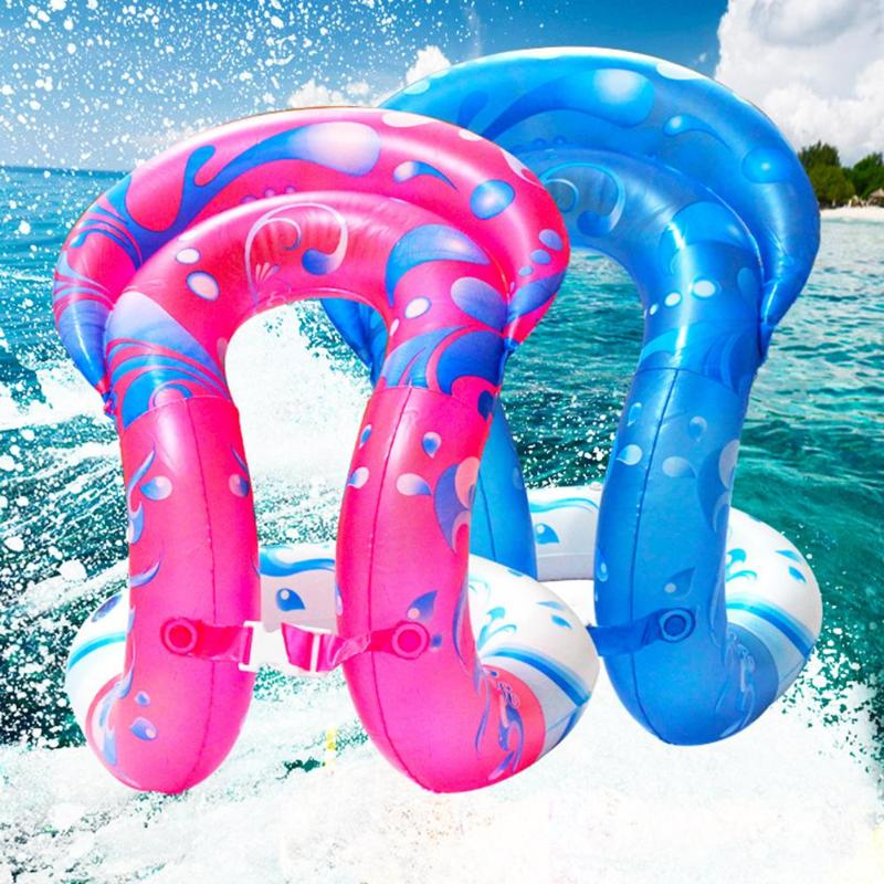 Kids Pools Swimming Ring Float PVC Inflatable Swim Seat Safety Water Toy Summer Children Inflatable Ride-ons Water Fun Toy
