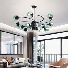 Modern Windmill Molecular Glass Led Pendant Lights  Hotel Lobby Living Room Restaurant Lamp Lighting Kitchen Fixtures