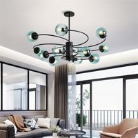 Moderne Windmühle Molekulare Glas Led Anhänger Lichter Hotel Lobby Wohnzimmer Restaurant Anhänger Lampe Beleuchtung Küche Leuchten Pendelleuchten    -
