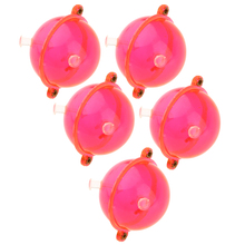 цена на 5pcs/set Fishing Float ABS Plastic Balls Clear Round Fishing Bobber Floats Buoy Tackle Accessories