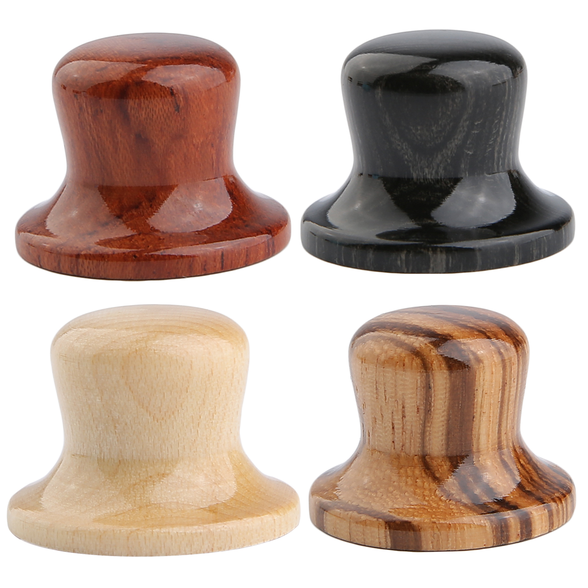 Dopro Wooden Knobs Bell Knobs Wooden Control Knobs Guitar Bass Top Hat Knobs Various Zebra/Maple/Bubinga/Compressed Wood