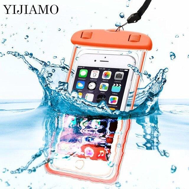 Универсальный для huawei PSmart водонепроницаемый чехол для телефона для Honor 8 9 10 Lite водонепроницаемый чехол для плавания водонепроницаемый герм...