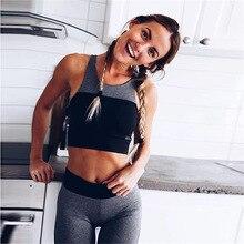 289698df812b95 Sexy kobiety siłownia strój do jogi strój jednolity Patchwork Ensemble  Jogging 2 kawałek biustonosz + spodnie ćwiczenia Fitness .