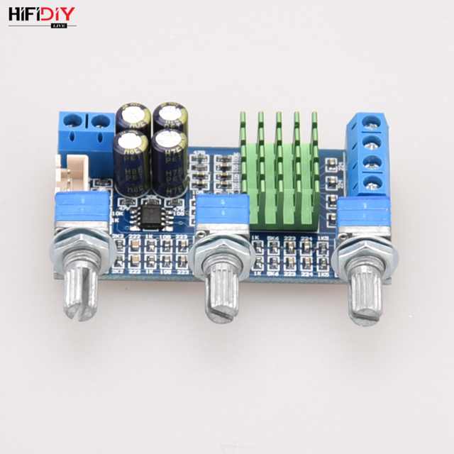 HIFIDIY 라이브 A2.0 3P TPA3116 2.0 앰프 보드 자동차 디지털 오디오 앰프 50W * 2 TPA3116 홈 고음 저음 스피커 조정