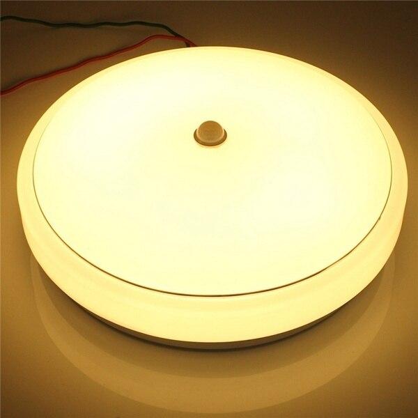 18 W Intelligent PIR détecteur de mouvement led Plafonnier Plafond Montage Lampe luminaire avec Infrarouge AC110-265V Blanc Automatique de détection