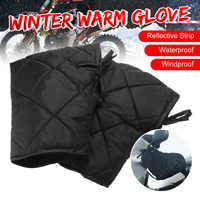 Waterproof Motorcycle Hand Handlebar Gloves Winter Thicken Warmer Motorbike Scooter Handlebar Grip Muffs Windproof