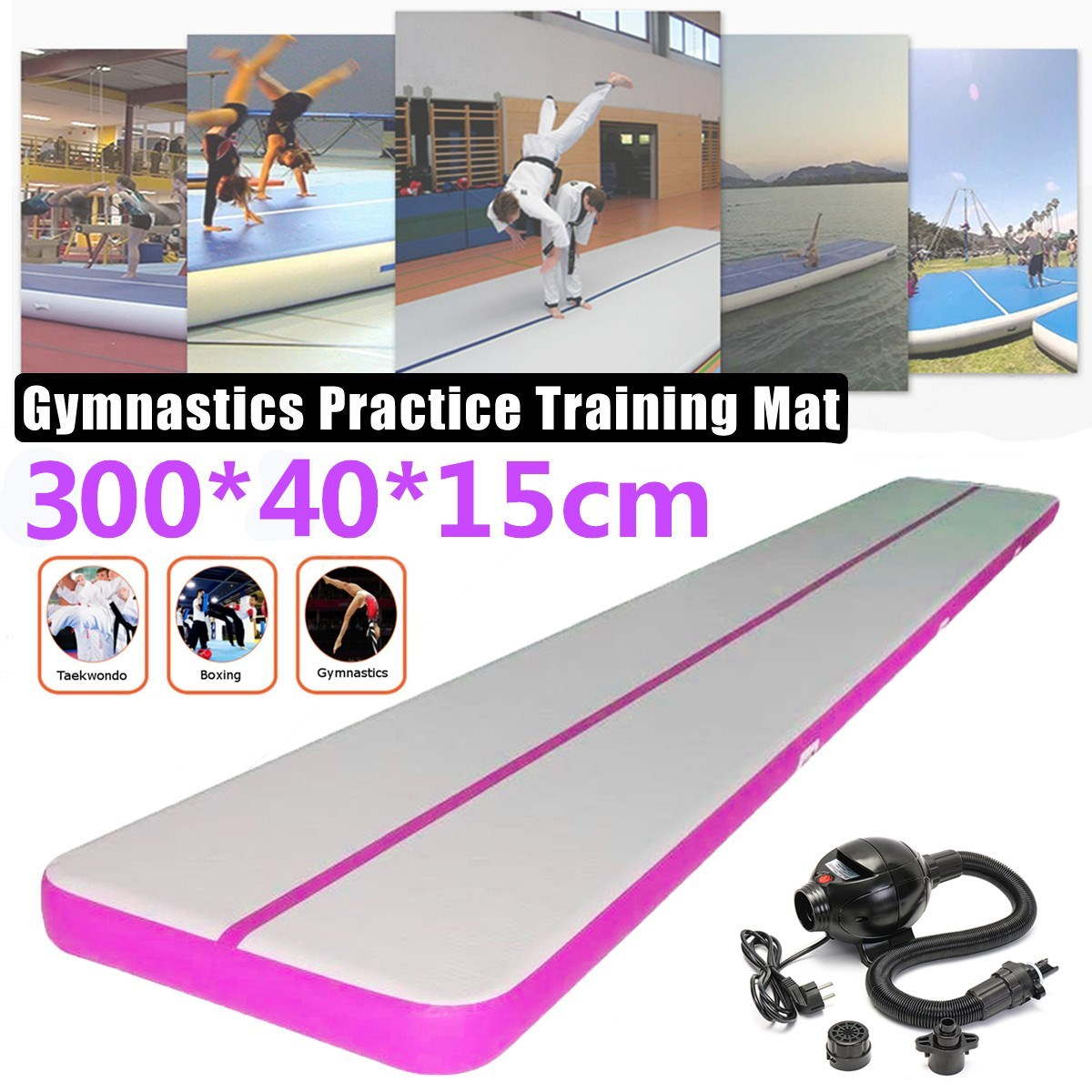 300*40*15 cm gonflable flottant Airtrack tapis de gymnastique Air Tumbling gonflable GYM Air piste tapis