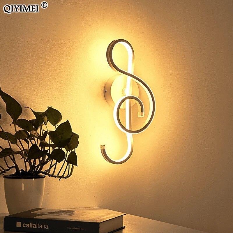 Image 2 - Branco/preto conduziu a lâmpada de parede moderna quarto ao lado da leitura luzes de parede interior sala estar corredor do hotel iluminação decoraçãoLuminárias de parede   -