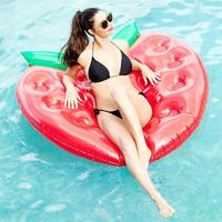 2019 SUmmer Swim Strawberry Float Inflatable Swim Mattress Swimming Pool Floating Row Adults Air Mat Beach Swim Mat 160x150cm