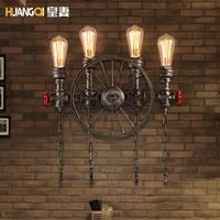 Creative עתיק צינור מים מנורת קיר מנורות אמריקאי בציר תעשייתי אור גופי בר קפה בית תפאורה Apliques Pared|מנורות קיר|   -