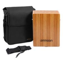 ammoon Portable  Travel Cajon Birch Wood Cajon Box Drum Stri