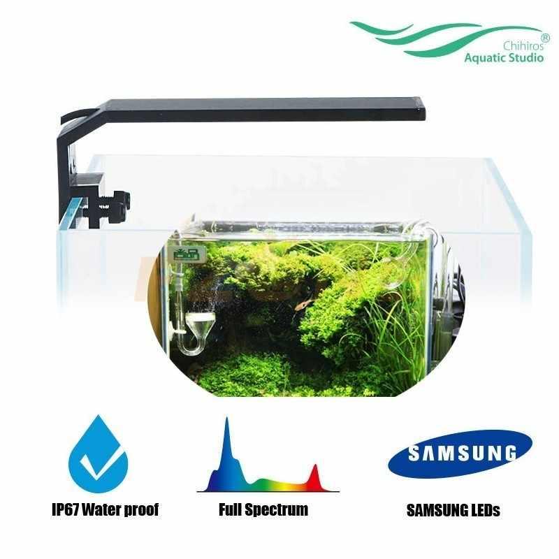 Chihiros C Series oświetlenie LED do akwarium Clip-on oprawa wodoodporna lampa z regulacja jasności dla Mini roślin wzrosła zbiornik