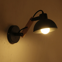 Simple Modern Solid Wood+iron Sconce Led Wall Lights For Home Bedroom Bedside Wall Lamp Indoor Lighting