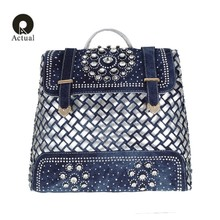 qian yi yuan New Backpack Ladies Denim Bag Small Women Backpack Mochila Feminina School Bags for Teenagers