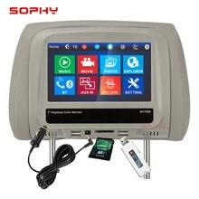7 дюймов Автомобильный Монитор Универсальный для всех автомобильных USB/SD/MP5/синий зуб телефон ссылка с сенсорным экраном SH7068