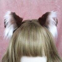 Ручной работы животных обруч для волос Muppet кошачьими ушками головные уборы для девочек вечерние аксессуары волос
