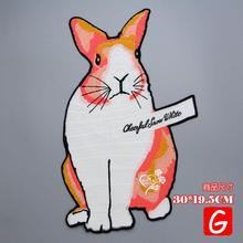 GUGUTREE embroidery big rabbit patches animal patches badges applique patches for clothing DX-10 gugutree embroidery big dragon patches animal patches badges applique patches for clothing dx 18