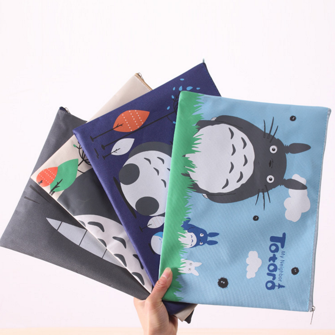 1Pcs/set Cute 32 X 23cm My Neighbor Totoro Oxford A4 File Folder Document Filing Bag Stationery Bag