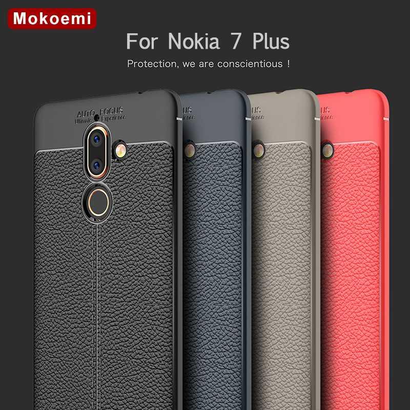 """Diskret Mokoemi Mode Lichee Muster Shock Proof 6,0 """"für Nokia 7 Plus Fall Für Nokia 7 Plus Handy Fall Abdeckung"""