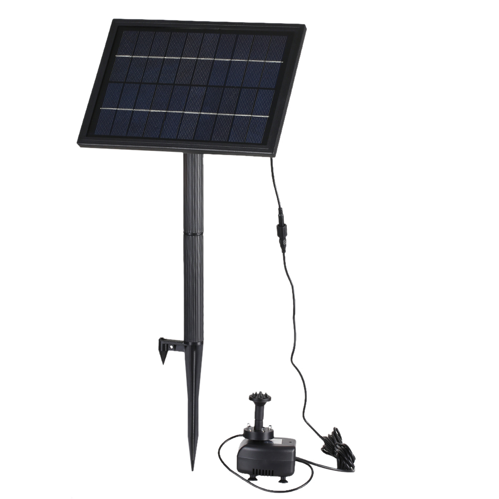 10V 5W Solar Powered Brushless Water Pump Built in Storage Battery Submersible Pet Pump Fountain Garden