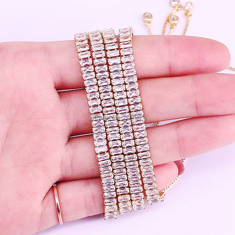 Image 4 - 10Pcs Hot New White Cubic Zirconia Pave Nicest Adjustable Fashion