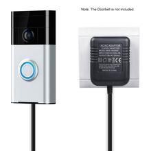 Zasilanie Adapter do pierścienia wideodomofon Pro na pierścionek wideodomofon na pierścionek wideodomofon 2 dla gniazdo dzień dobry 6 M kabel czarny tanie tanio KKMOON Power Supply Adapter