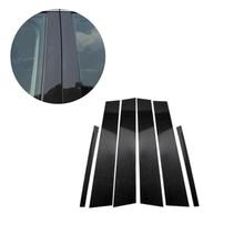 Cubierta decorativa de fibra de carbono para ventana de coche Mercedes Benz, cubierta de decoración de moldura Exterior para Mercedes Benz C E GLC GLK GLA Class 2015 2016 2017 2018