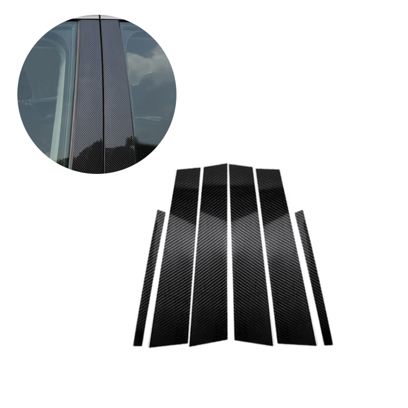 For <font><b>Mercedes</b></font> Benz C E GLC GLK GLA Class 2015 2016 2017 2018 Carbon Fiber Car Window <font><b>B</b></font> Pillar Exterior Molding Decor Cover image