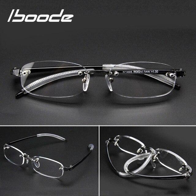 Iboode ללא שפה סיים קוצר ראייה משקפיים מסגרת נשים גברים TR90 קצר Sight קצרי רואי משקפי משקפיים אופטיים דיופטריות-1.0 ~ 4.0