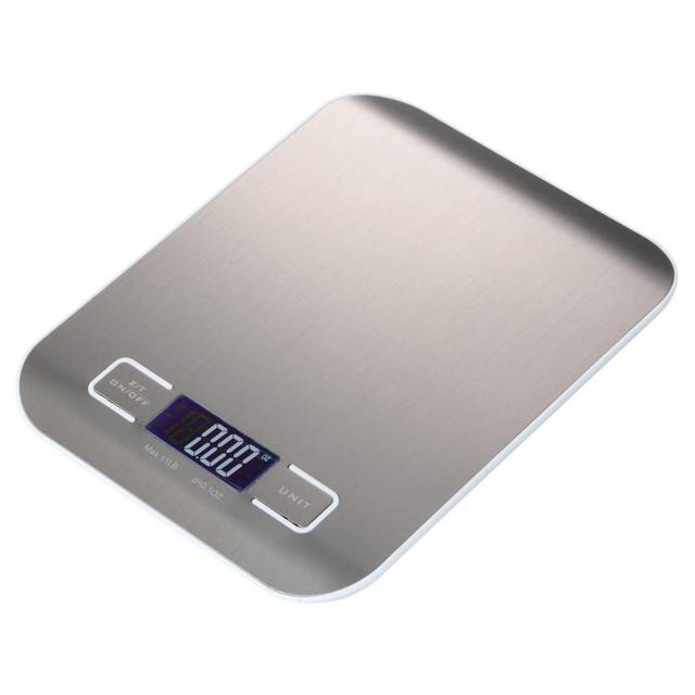 LCD Display & Stainless Steel Kitchen Scale