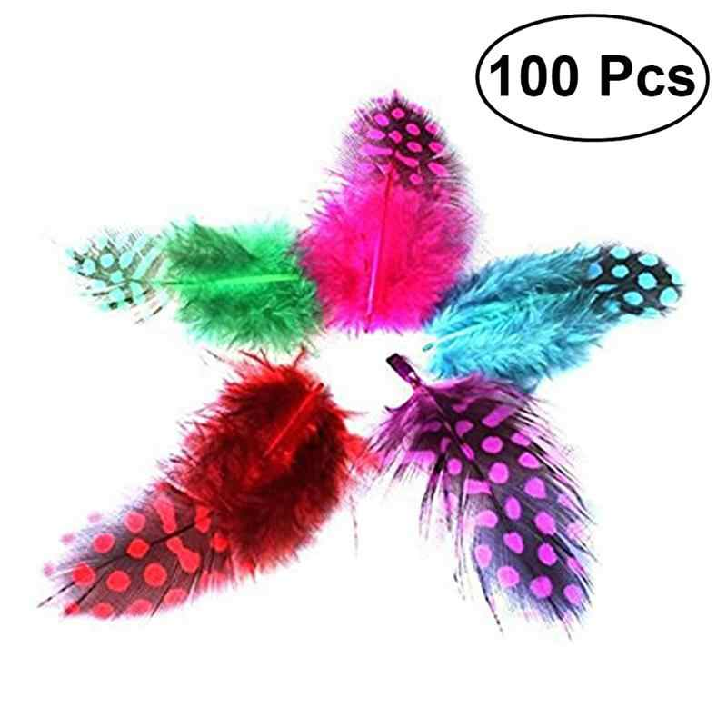 100pcs DIY Feathers Natural Color Craft Assorted Decorative Various Feathers Decorations Crafts for Dress-up Party Decor