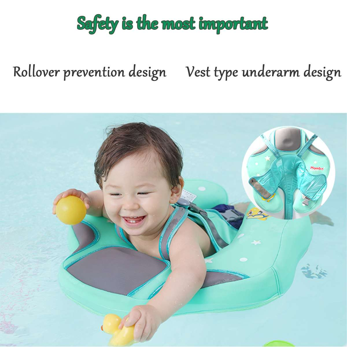 Foam Baby Need Not Inflatable Floating Ring Swimming Baby Accessories Tube Safety Infant Float Circle for Bathing Water Training