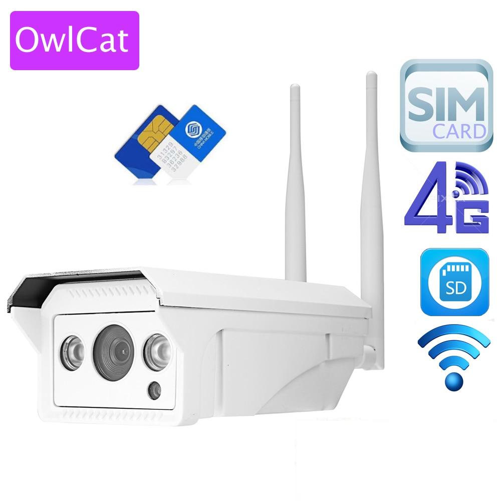 OwlCat Full HD 1080 p 960 p HD Bullet IP Caméra Sans Fil GSM 3g 4g SIM Carte IP caméra Wifi Extérieure Étanche iPhone Android