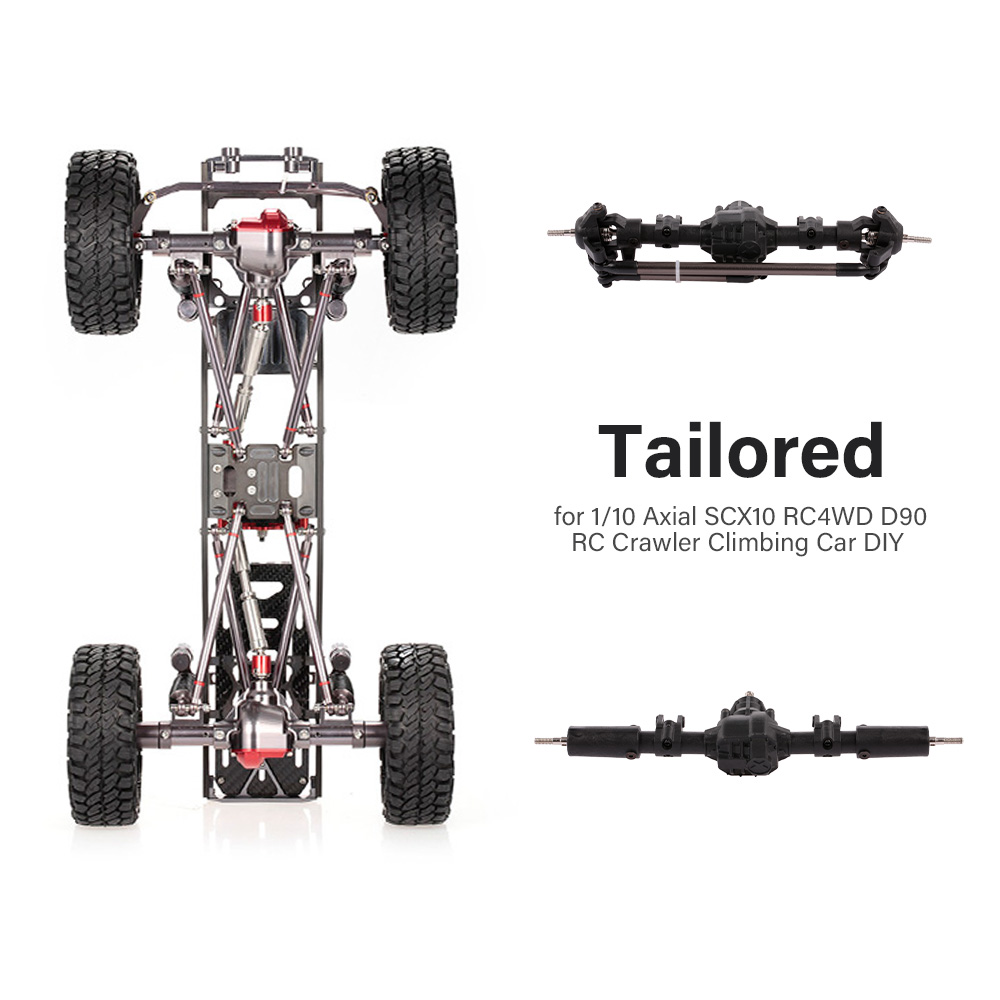 Front & Rear Bridge Axle Shaft Transmission Bridge With Differential For 1/10 Axial SCX10 RC4WD D90 RC Crawler Climbing Car DIY