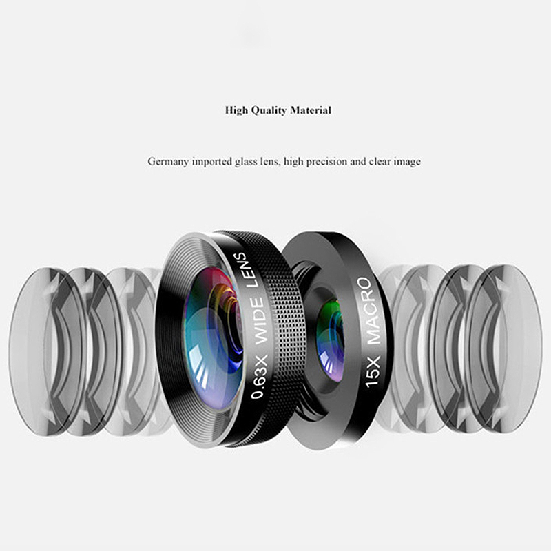 Image 4 - Phone Camera Lens,6 In 1 Cell Phone Lens Kit For Iphone And Android, Kaleidoscope Wide Angle+Macro Cpl Fisheye Telephoto Zoom-in Camera Lens from Consumer Electronics