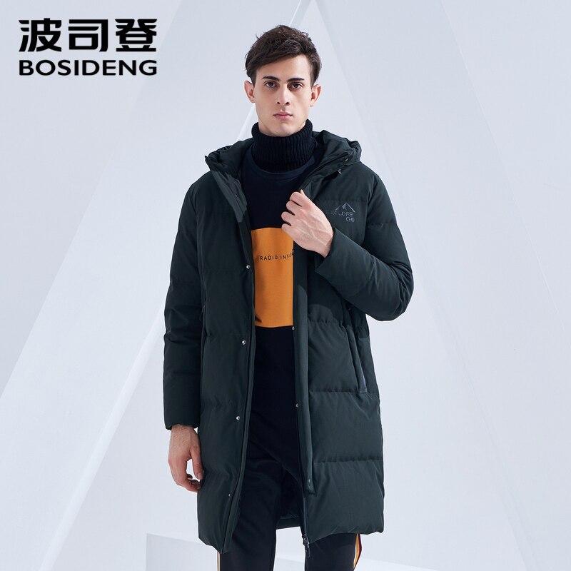 Froid de BOSIDENG longue doudoune hommes d'hiver à capuchon chaud survêtement 2018 nouvelle décontracté épaissir qualité supérieure manteau de duvet B80142537DS