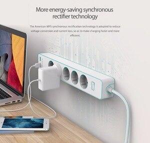 Image 4 - Orico usb tomada de tira de energia com 2 usb 2.4a carregamento rápido padrão extensão tomada tira de energia adaptador eletrônica casa