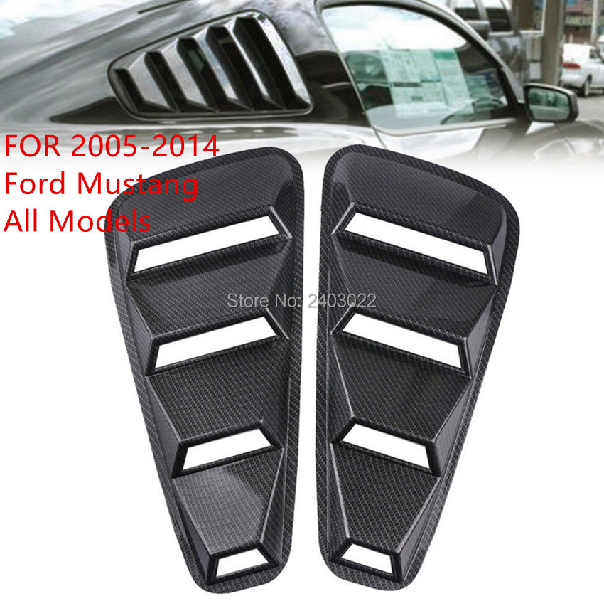 2x Quarter Side Window Louvers Scoop Cover Vent Fits 2015-2018 Ford Mustang